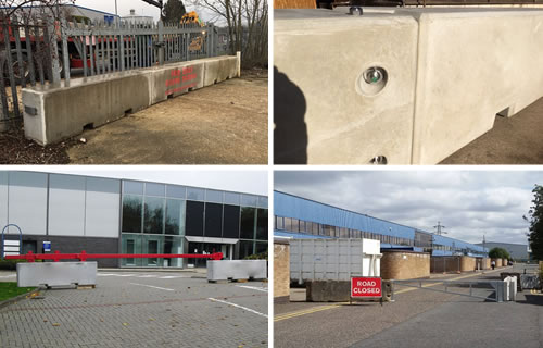 Constant and Co Security Barriers and Concrete Blocks