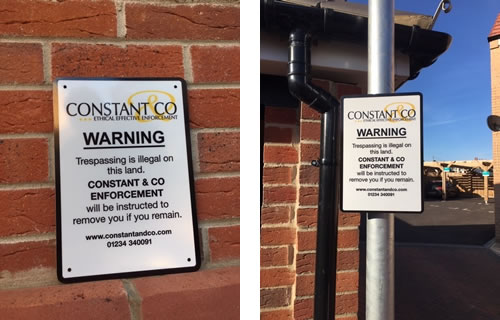 Constant and Co Security Signs